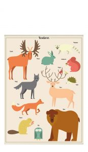 Little And Pure Poster Bosdieren Voorkant