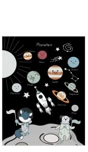 Little And Pure Poster Planeten Voorkant